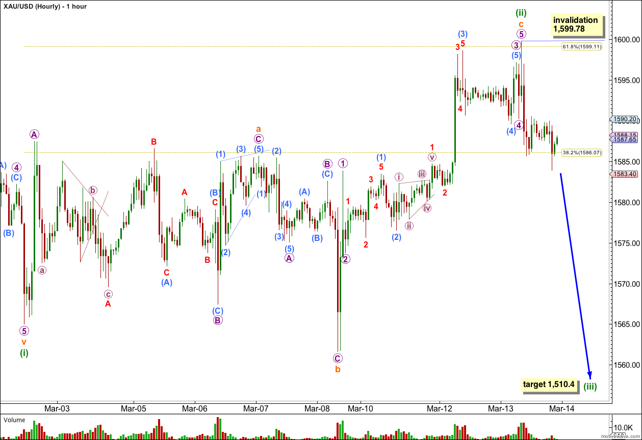 Gold Elliott Wave Chart 2013