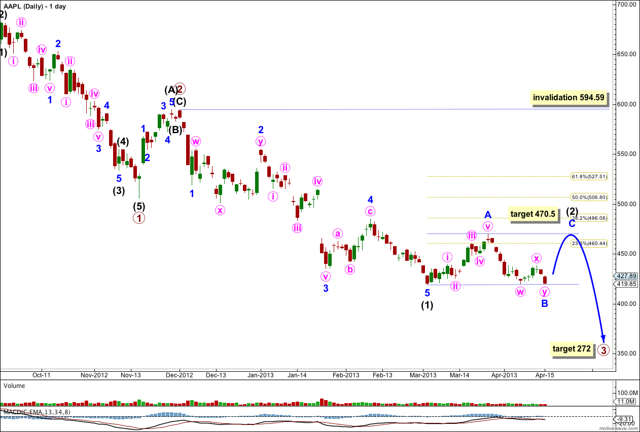 AAPL Elliott Wave Daily Chart 2013