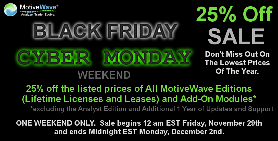 MotiveWave Black Friday Cyber Monday 2013