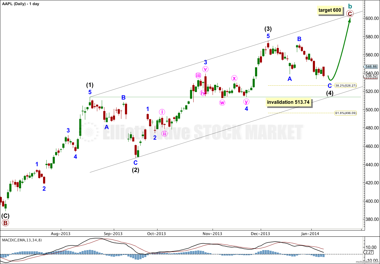 Aapl elliott wave technical analysis 9th january 2014 charts