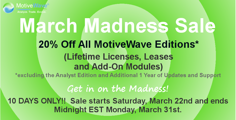 MotiveWave March Madness Sale 2014
