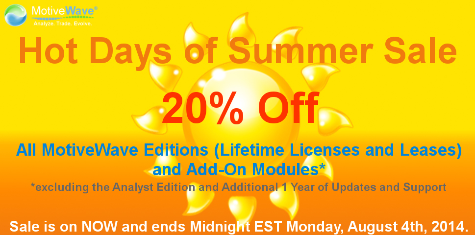 MotiveWave Hot Days of Summer Sale