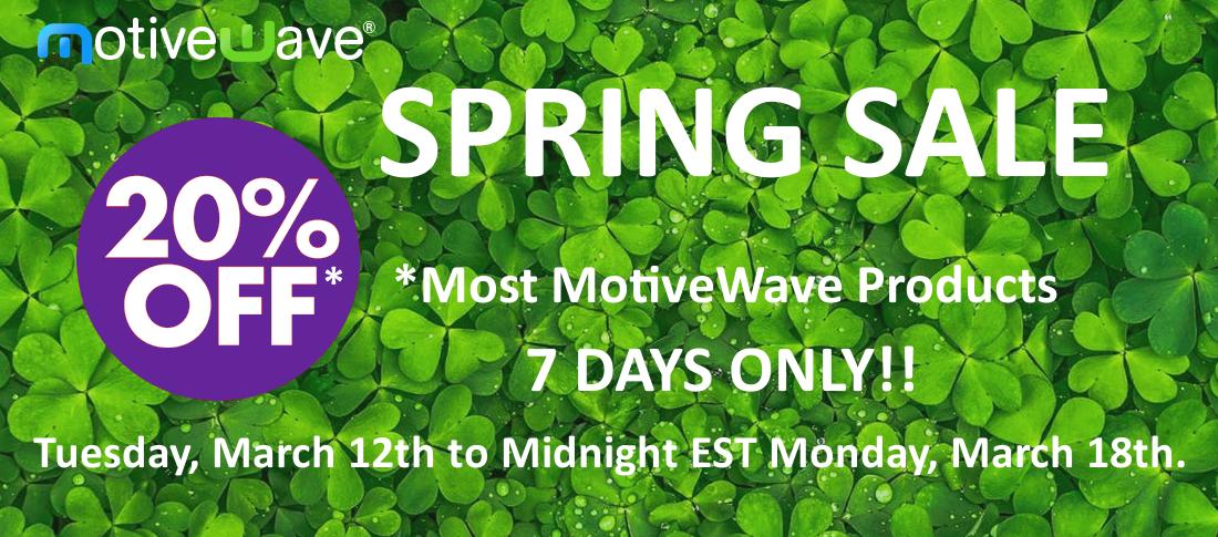 MotiveWave Spring Sale - 2019